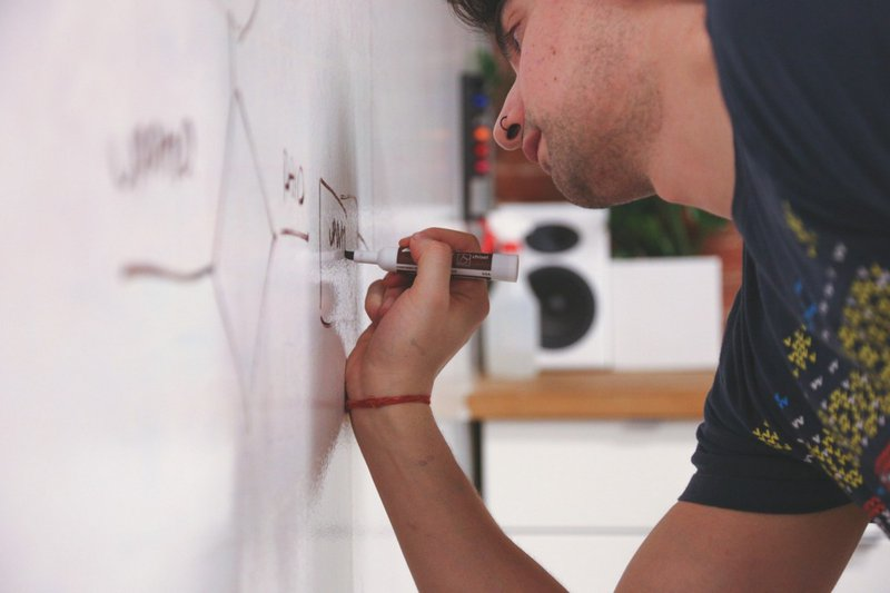 drawing on the board